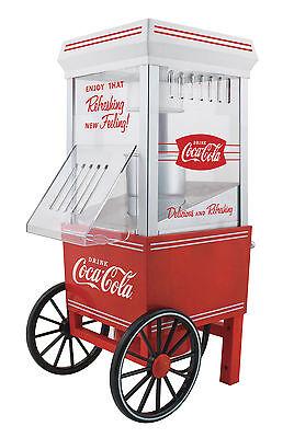 Nostalgia CocaCola Series Hot Air Popcorn Maker Red Vintage