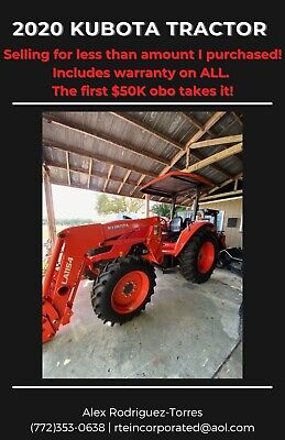 2020 Kubota M5660suhd Diesel 4x4 Tractor Includes Grapple Rotary Cutter A