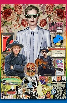 "Beck --11x17"" collage poster -vivid colors/ - signed by artist"