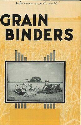 Ih Mccormick-deering Grain Binders Brochure Booklet International Harvester Ihc