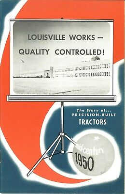 Ih Farmall Cub Assembly Line Louisville Works Factory Brochure Mid-century 1950