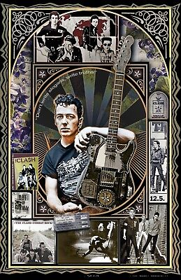 """Joe Strummer and The Clash-11x17"""" poster - signed by artist - vivid-colors"""