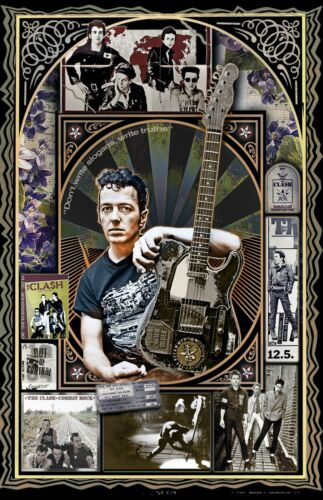 "Joe Strummer and the Clash Tribute poster - 11x17"" - Vivid Colors!"
