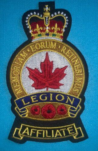 Vintage Royal Canadian Legion Affiliate Member Jacket DIY Craft Patch Crest 322W