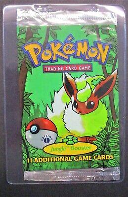 Jungle 1st Edition Flareon Art Work Booster Pack (EMPTY) Pokemon Empty Packs