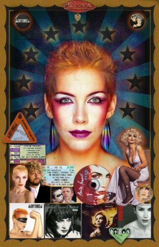 """Annie Lennox Tribute poster - 11x17"""" - Vivid Colors!"""