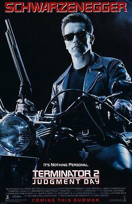 Terminator 2 movie poster 11 x 17 inches - Arnold Schwarzenegger poster