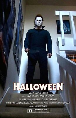 Halloween UNSIGNED 11x17 PHOTO #5 Michael Myers John Carpenter Jamie Lee Curtis (Halloween 5 Jamie)