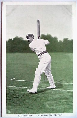 "TOM HAYWARD SURREY & ENGLAND 1907 ""IN THE OPEN"" RAPH TUCK CRICKET POSTCARD"
