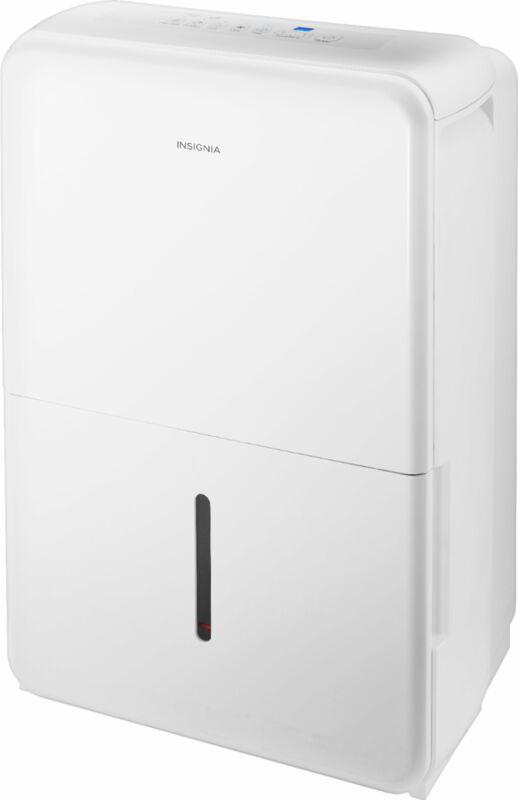 Insignia- 50-Pint Dehumidifier - White