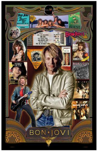 """Bon Jovi  Fan Tribute poster - 11x17"""" - Vivid Colors!"""
