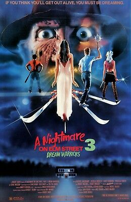 A Nightmare On Elm Street movie poster 11 x 17 inches - Part 3 Dream Warriors