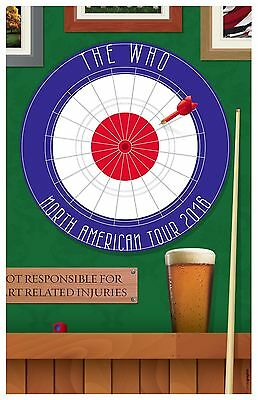The Who 2016 World Tour Gig Concert Poster