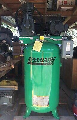 Speedaire Stationairy Air Compressor 35wc51 3ph 7.5hp 80 Gallon 175 Psi New