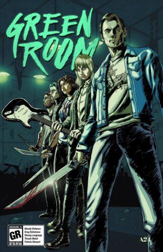 "Green Room movie poster (b) - Anton Yelchin, Imogen Poots 11"" x 17"" inches"