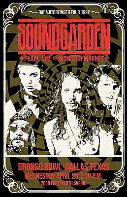 Soungarden 1992 Tour Poster