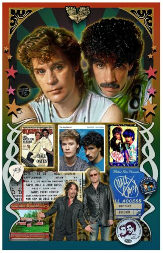 """Hall & Oates Tribute poster - 11x17"""" - Vivid Colors!"""