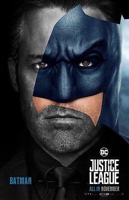 Justice League movie poster (JL4) - 11 x 17 inches - Ben Affleck, Batman