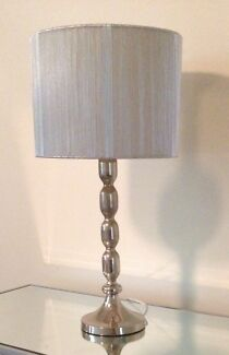 Silver Lamp with Shimmer Shade