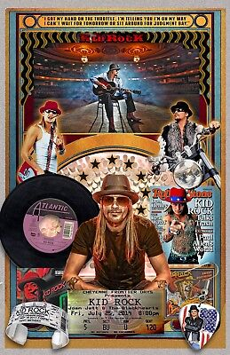 "Kid Rock-11x17"" collage poster - vivid colors/deep blacks - signed by artist"