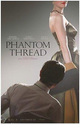 "Phantom Thread movie poster (a)  - 11"" x 17"" inches - Daniel Day Lewis"