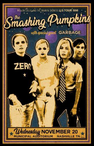 Smashing Pumpkins 1996 Concert Poster