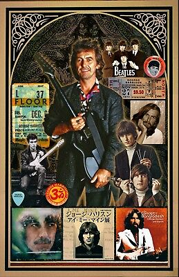 George Harrison 11X17  Collage Poster  Vivid Colors Deep Blacks Signed By Artist