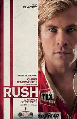 Rush Movie Poster   Chris Hemsworth Poster   11 X 17 Inches  C
