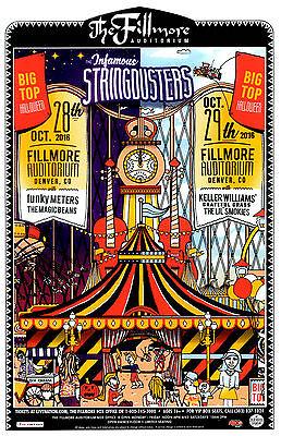 INFAMOUS STRINGDUSTERS - Big Top Halloween 2016 Denver Concert Flyer /Gig Poster - Halloween Concert Flyer