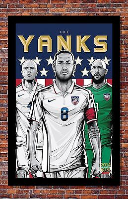FIFA World Cup Soccer Event Brazil | TEAM USA Poster | 13 x 19 inches Brazil Soccer World Cup