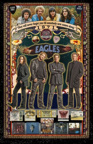 "The Eagles  Tribute Poster - 11x17"" Vivid Colors"