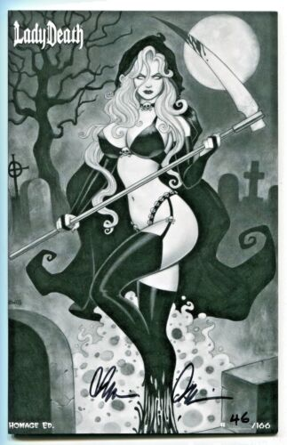 Lady Death #1 Homage Edition Variant Cover by Scott Lewis Signed by Brian Pulido