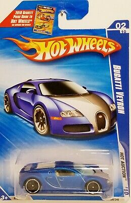 2010 Hot Wheels Hot Auction Bugatti Veyron in satin blue