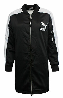 Puma Archive T7 Women's Bomber Jacket Black White Zip Up 574978 01
