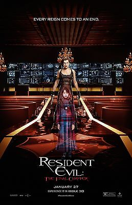 Resident Evil The Final Chapter Movie Poster  F     11 X 17 Inches