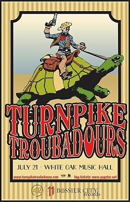 TURNPIKE TROUBADOURS 2017 HOUSTON CONCERT TOUR POSTER- Country /Folk /Roots Rock - $11.99