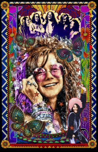 "Janis Joplin  Tribute poster - 11x17"" - Vivid Colors!"