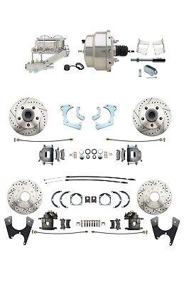 1965 68 GM Fullsize All Wheel Disc Brake Conversion Kit w Chrome Booster Kit