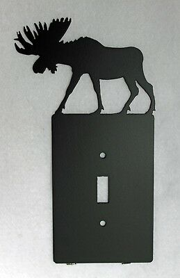 MOOSE Single Light Switch Plate Cover Wildlife Rustic Cabin Lodge Metal Art Moose Single Switchplate
