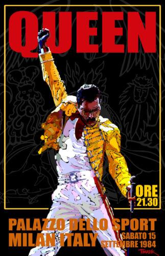 Queen 1984 Concert Poster