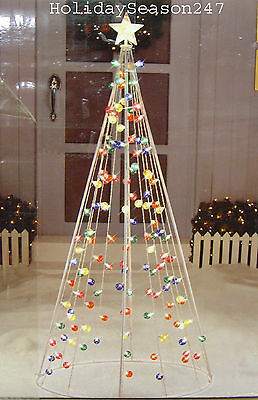 Giant 7Ft Twinkle Multi Color Cone Tree W/ 140 Light Christmas Holiday Yard Prop