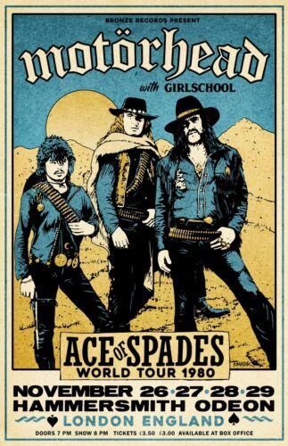 Motorhead 1980 Tour Poster