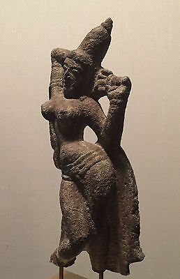 Lovely Authentic 12th A.D. Apsara Statue, Ancient India Chola Empire