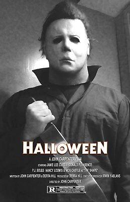 Halloween UNSIGNED 11x17 PHOTO #4 Michael Myers John Carpenter Jamie Lee Curtis