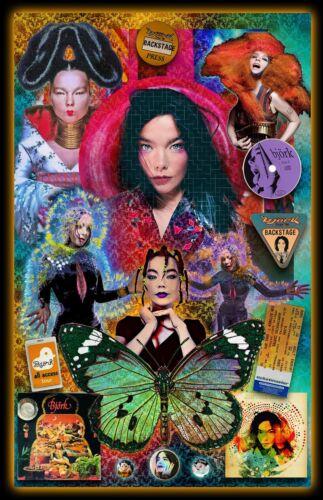 "Bjork  Tribute Poster - 11x17"" Vivid Colors"