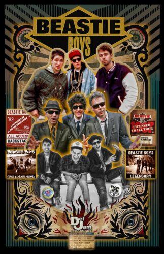 "BEASTIE BOYS Fan Tribute poster - 11x17"" - Vivid Colors!"