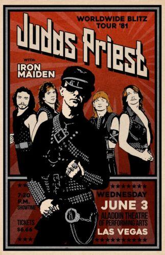 Judas Priest 1981 Concert Poster