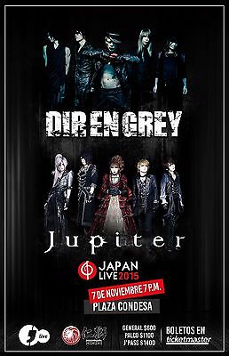 DIR EN GREY/JUPITER 2015 MEXICO CITY CONCERT TOUR POSTER-Avant-garde Metal Music