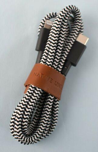 Native Union BELT-KV-CL-ZEB-2 4ft / 1.2m USB-C to Lightning Cable Zebra NO BOX