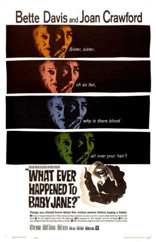 "Whatever Happened To Baby Jane poster - 11"" x 17"" - Bette Davis, Joan Crawford"